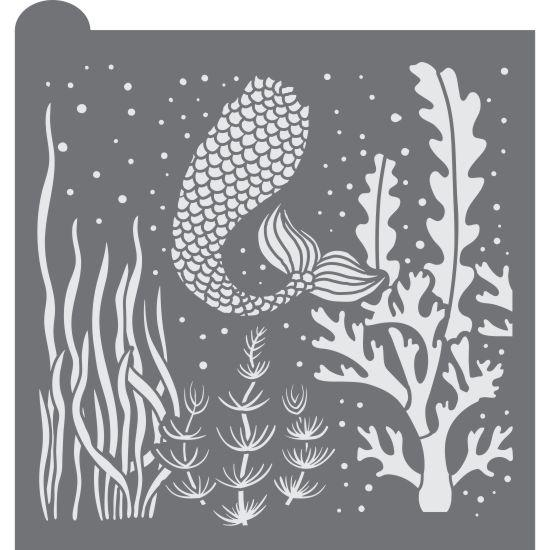 Underwater Prettier Plaques Background Cookie Stencil