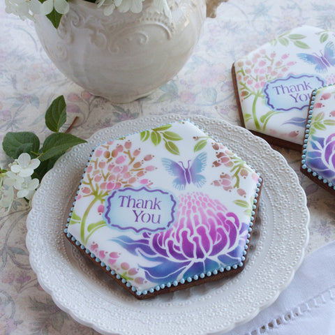 Thank You Prettier Plaques™ 5-Piece Cookie Stencil Set by Julia Usher