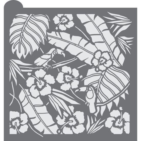 Tropical Opulence Prettier Plaques Background by Julia Usher