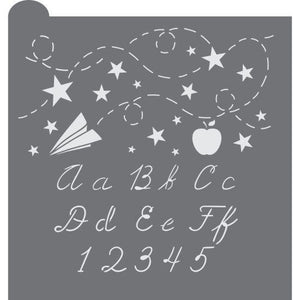 School Days Prettier Plaques Background Cookie Stencil