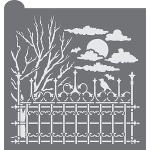 Hallows' Eve Prettier Plaques Background Cookie Stencil