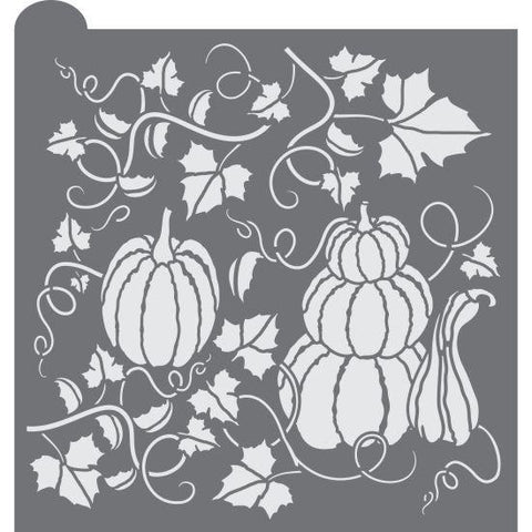 Pumpkin Patch Prettier Plaques Background Cookie Stencil by Julia Usher