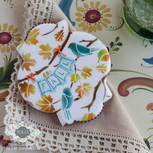 Fall Foliage Prettier Plaques Cookie Stencil 5 Pc Set