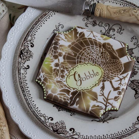 Woodland Turkey Prettier Plaques Cookie Stencil 5 Pc Set