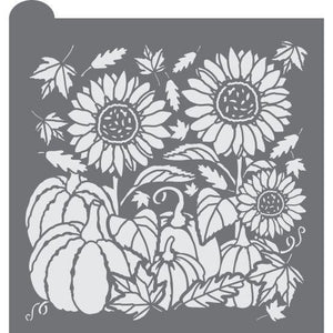 Autumn Harvest Prettier Plaques Background Cookie Stencil
