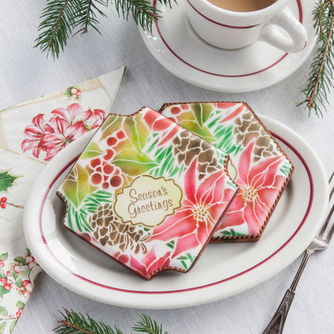 Winter Botanica Prettier Plaques Cookie Stencil 5 Pc Set
