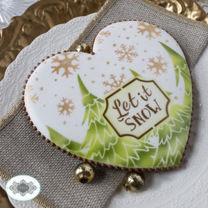 Winter Wonderland Prettier Plaques Cookie Stencil 5 Pc Set