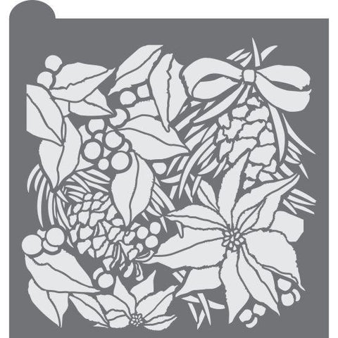 Winter Botanica Prettier Plaques Background Cookie Stencil