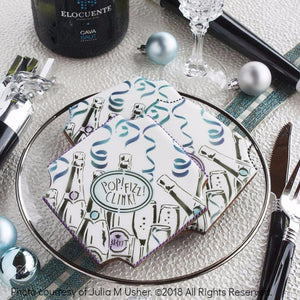 Pop the Bubbly Prettier Plaques 5-Piece Cookie Stencil Set by Julia Usher