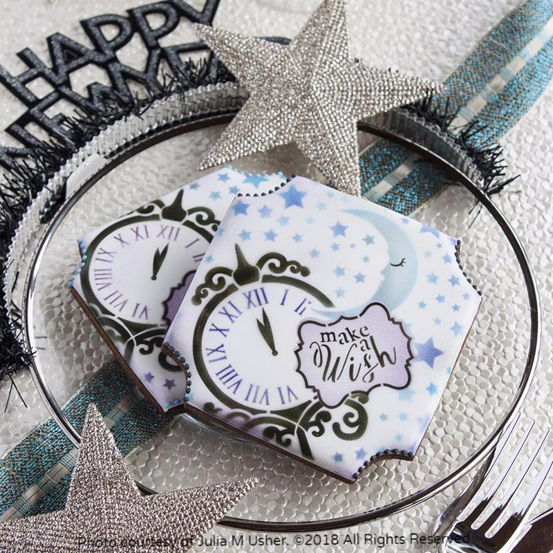 Make a Wish Prettier Plaques™ 5-Piece Cookie Stencil Set by Julia Usher