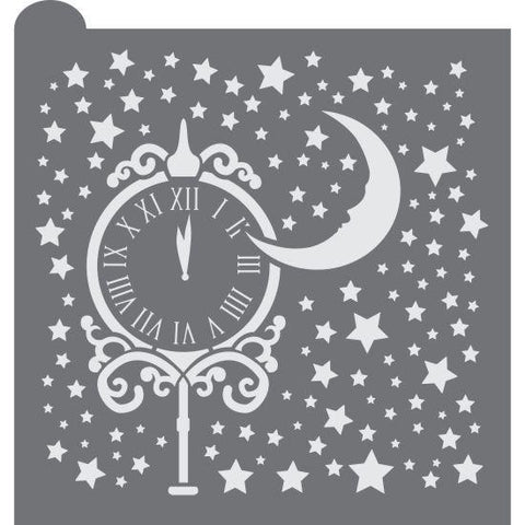 Stroke of Midnight Prettier Plaques Background Cookie Stencil