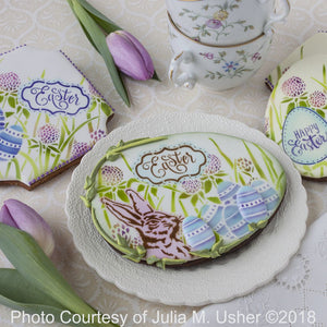 Egg Hunt Dynamic Duos 5 Piece Message and Frame Set by Julia Usher