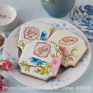 In Bloom Dynamic Duos Background Cookie Stencil Set