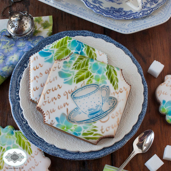 Vintage Tea Dynamic Duos Cookie Stencil Set