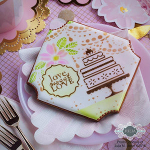 Take the Cake Dynamic Duos™ 5 Piece Message and Frame Set by Julia Usher