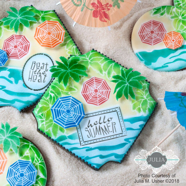 Day at the Beach Dynamic Duos Messages Cookie Stencil Set