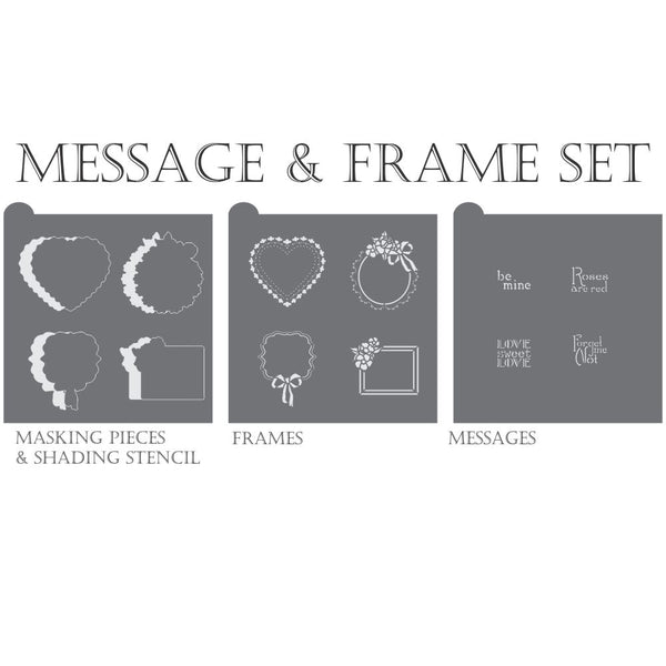 Forget Me Not Dynamic Duos Cookie Stencil Set