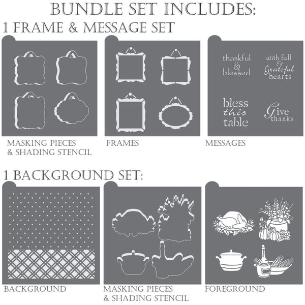 Bless This Table Dynamic Duos Cookie Stencil Set
