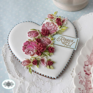 Roses are Red Dynamic Duos Cookie Stencil Set includes SJU0300 & SJU0301