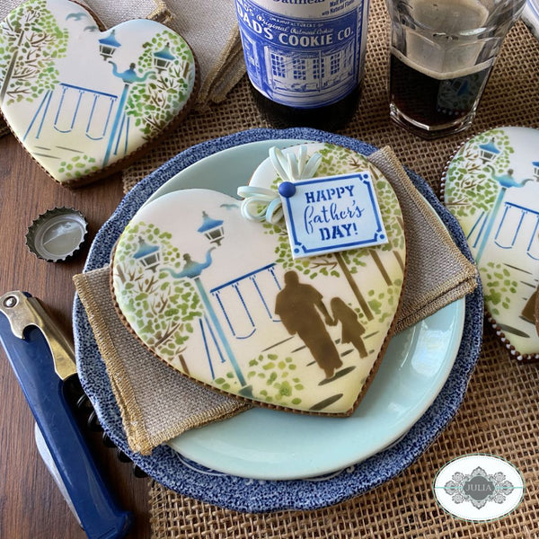 World's Best Dad Dynamic Duos Cookie Stencil Set