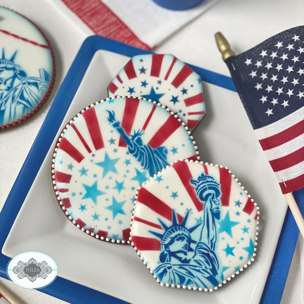God Bless America Dynamic Duos Cookie Stencil Set