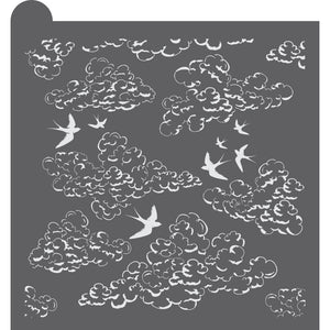 Up in the Clouds Dynamic Duos Background Cookie Stencil