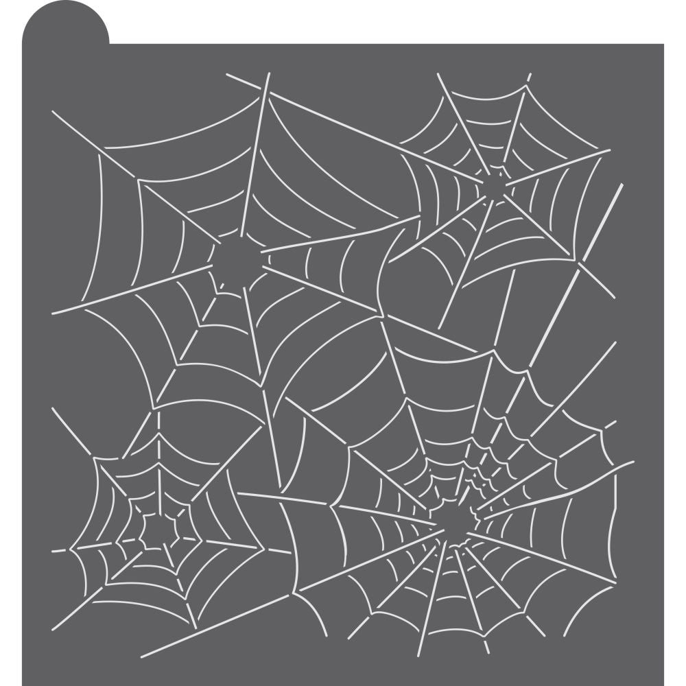 Spider Web Dynamic Duos Background Cookie Stencil