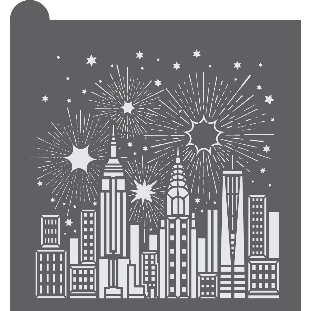 Cityscape Dynamic Duos Background Cookie Stencil