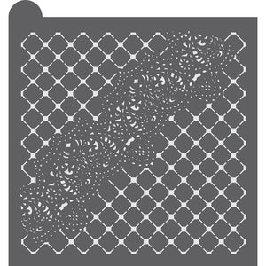 Lace Dynamic Duos Background Cookie Stencil