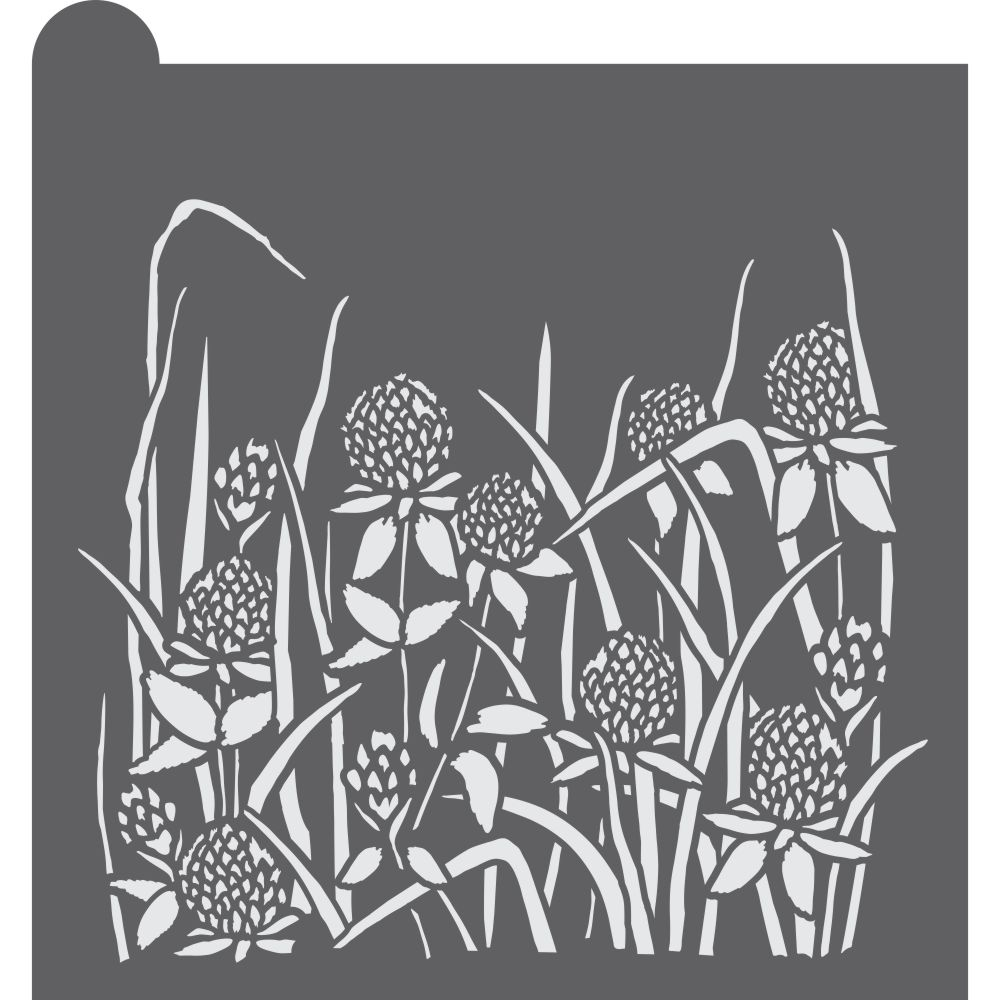 Grass and Clover Dynamic Duos Background Cookie Stencil