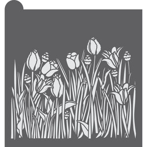 Tulips Dynamic Duos Background Cookie Stencil