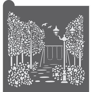 A Walk in the Park Dynamic Duos Background Cookie Stencil