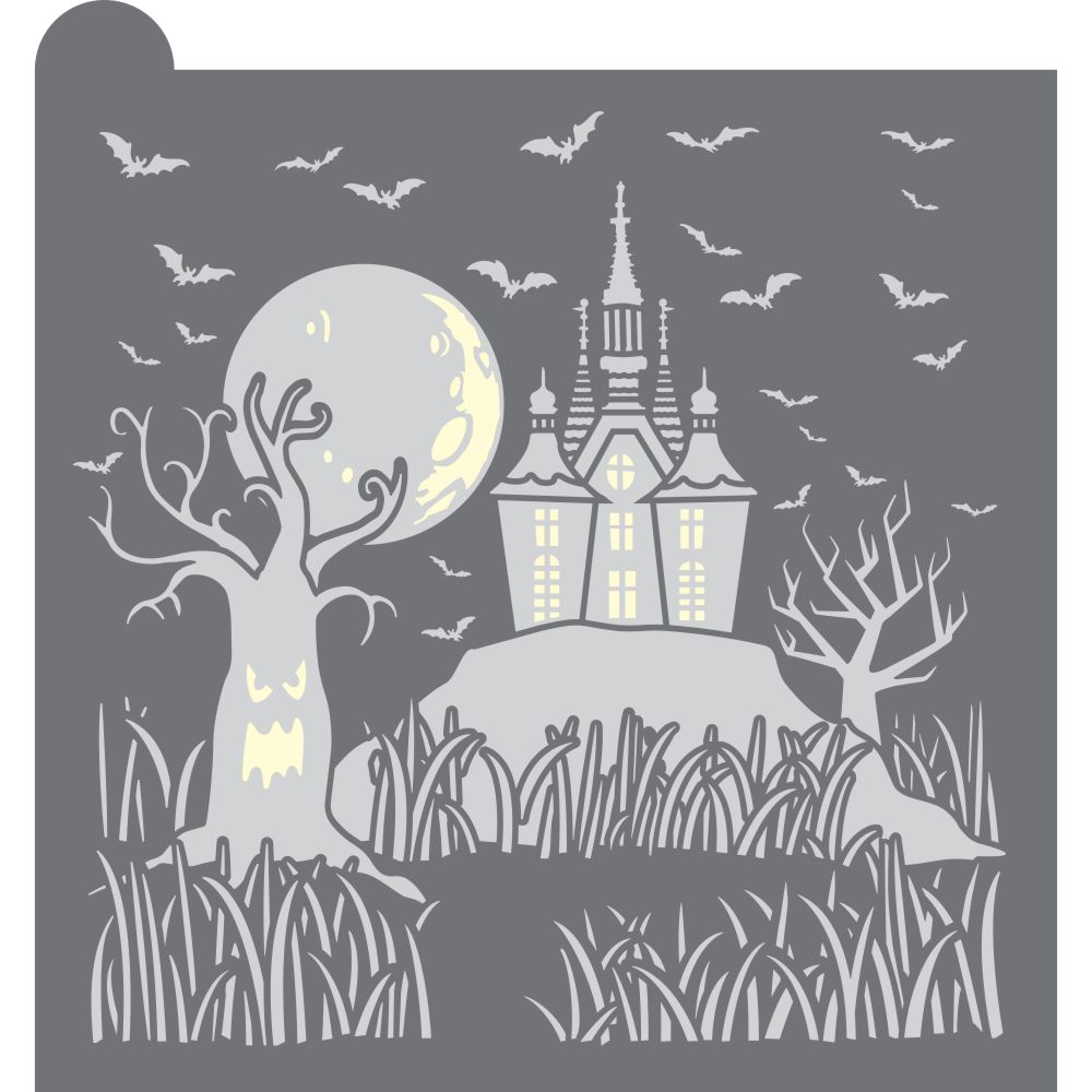 Haunted Homestead Dynamic Duos Background Cookie Stencil