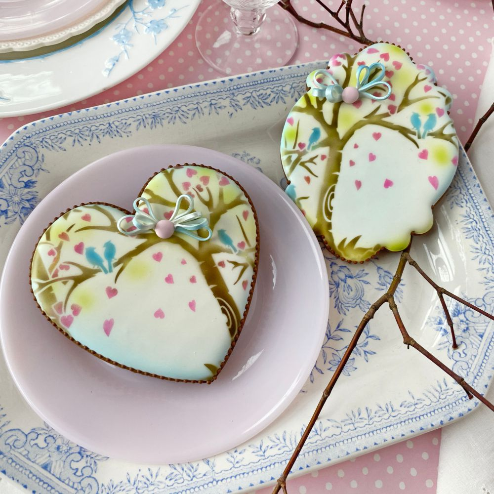 Heart Tree Dynamic Duos Background Cookie Stencil