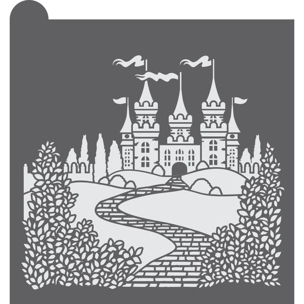 Royal Castle Dynamic Duos Background Cookie Stencil