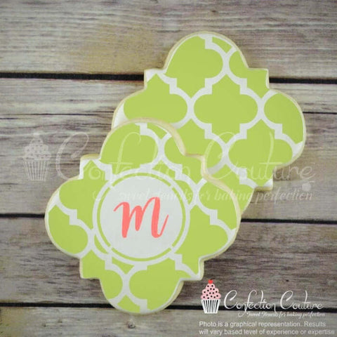 Agadir Monogram Background Cookie Stencil Background