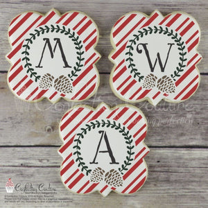 Antique Christmas Monogram Alphabet Cookie Stencils Alphabet