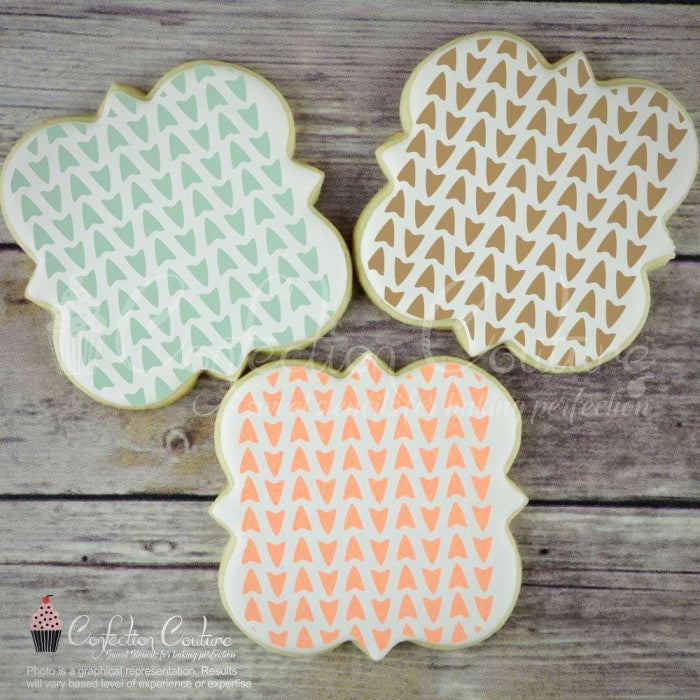 Arrowhead Background Cookie Stencil Background