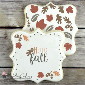 Autumn Basic Words Cookie Stencil Words