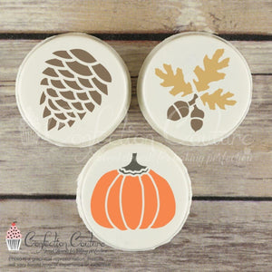 Autumn Round Cookie Stencil 3 Pc Set