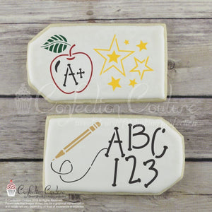 Back To School Accent Cookie Stencil Accents