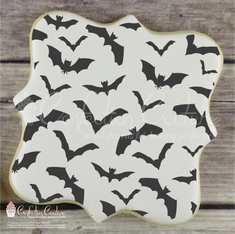 Bats Basic Background Cookie Stencil Background