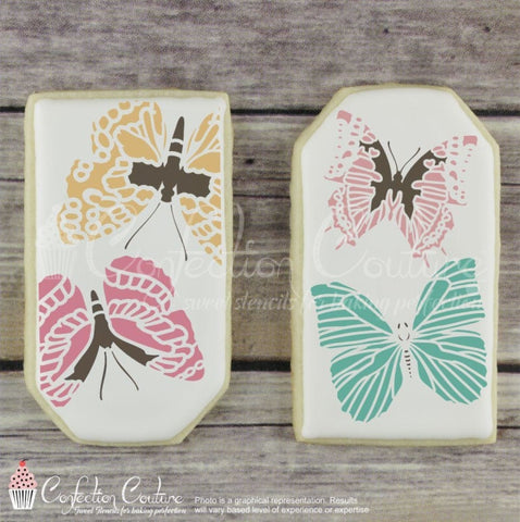 Butterflies Accent Cookie Stencil Accents