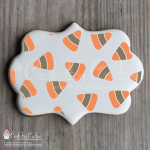 Candy Corn Background 2 Overlay Cookie Stencil Background