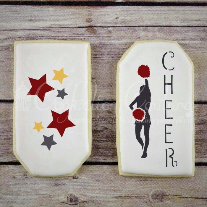 Cheerleading Accent Cookie Stencil Accents