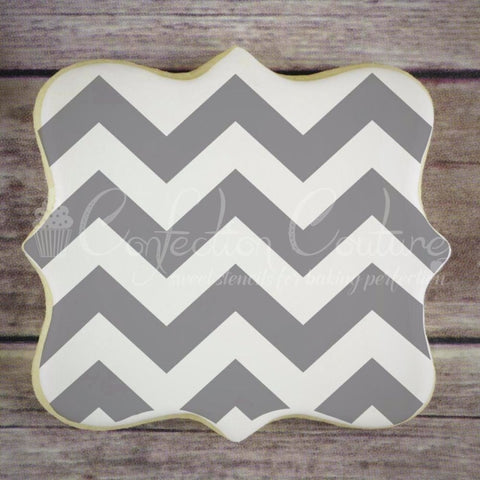 Chevron Background Cookie Stencil Background