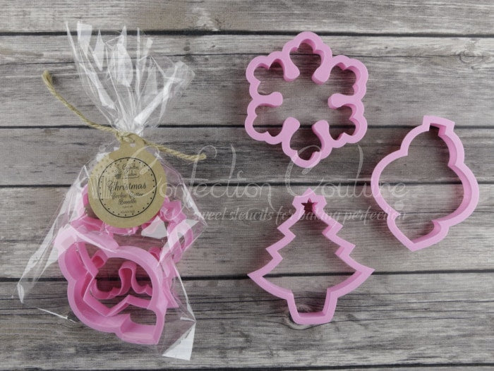 Christmas Cookie Cutters Bundle 3 Pc Set Accessories