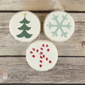 Christmas Round Cookie Stencil 3 Pc Set Round