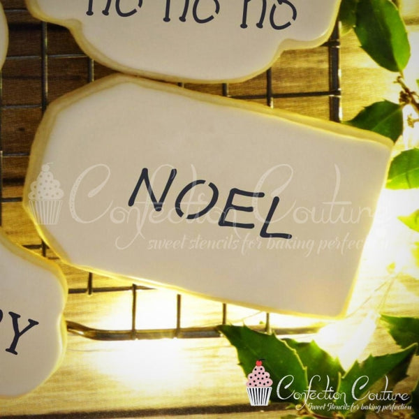Christmas Words Cookie Stencil Words