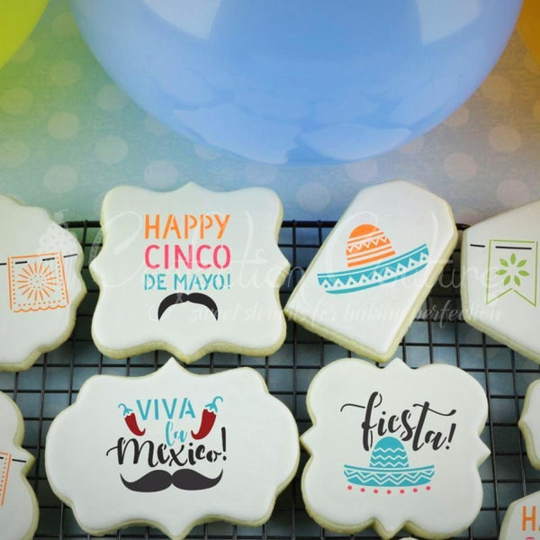 Cinco De Mayo Cookie Stencil Accent